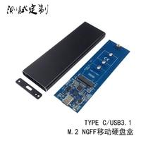 M2NGFF mobiele harde schijf box USB3.1 interface TYPE C SSD SATA protocol TYPE-C kaartlezer