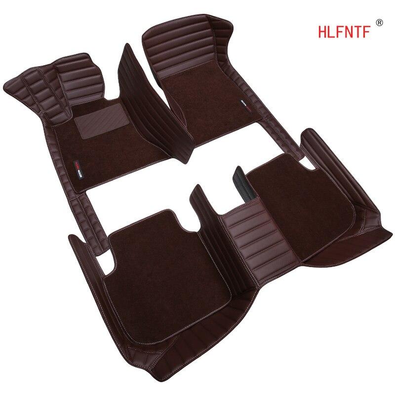 HLFNTF personnalisé Double tapis de sol voiture pour SsangYong Actyon Korando Rexton Président Kyron voiture accessoire car styling auto tapis de sol