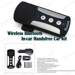 Bezprzewodowy zestaw głośnomówiący Bluetooth zestaw samochodowy osłona przeciwsłoneczna z ładowarka samochodowa MP3 odtwarzacz ABS czarny dla smartfonów