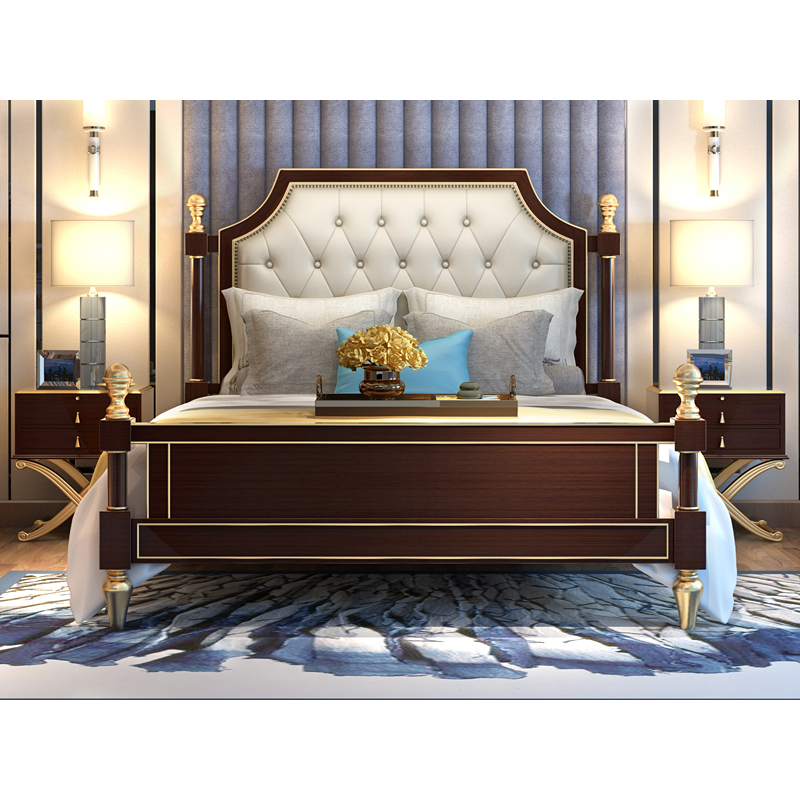 Luxury American Bedroom Furniture Classic Designs Double Wooden Bed Buy At The Price Of 1 498 00 In Aliexpress Com Imall Com