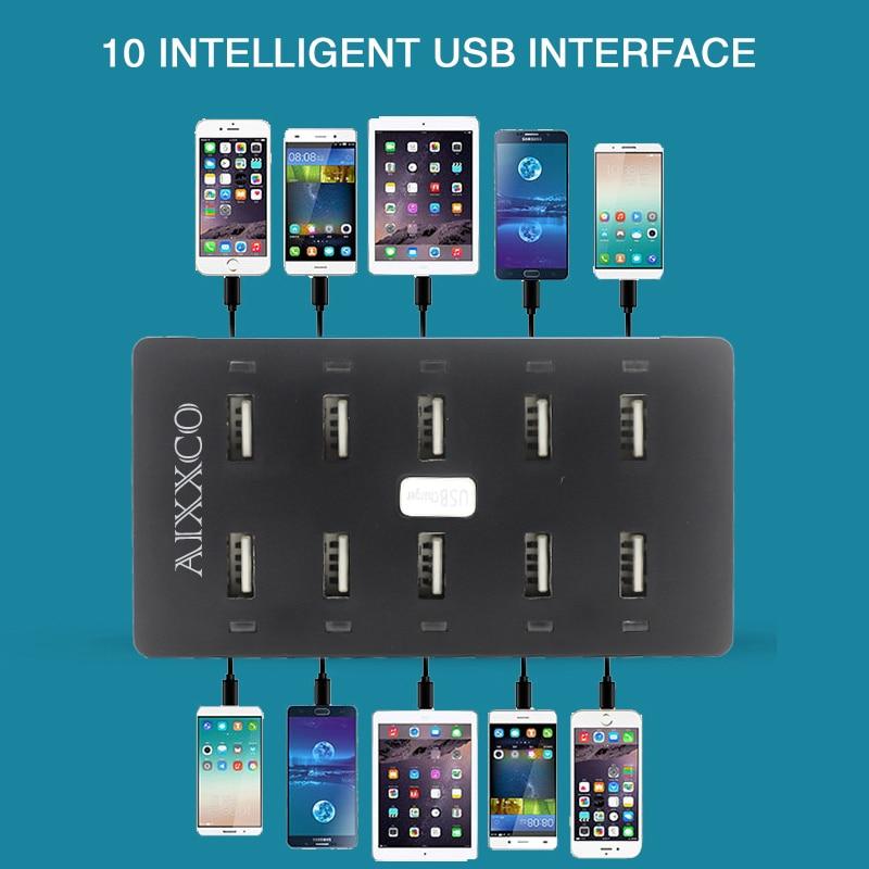 Φορτιστής USB AIXXCO 50W 10 θύρες USB 10A - Ανταλλακτικά και αξεσουάρ κινητών τηλεφώνων - Φωτογραφία 5