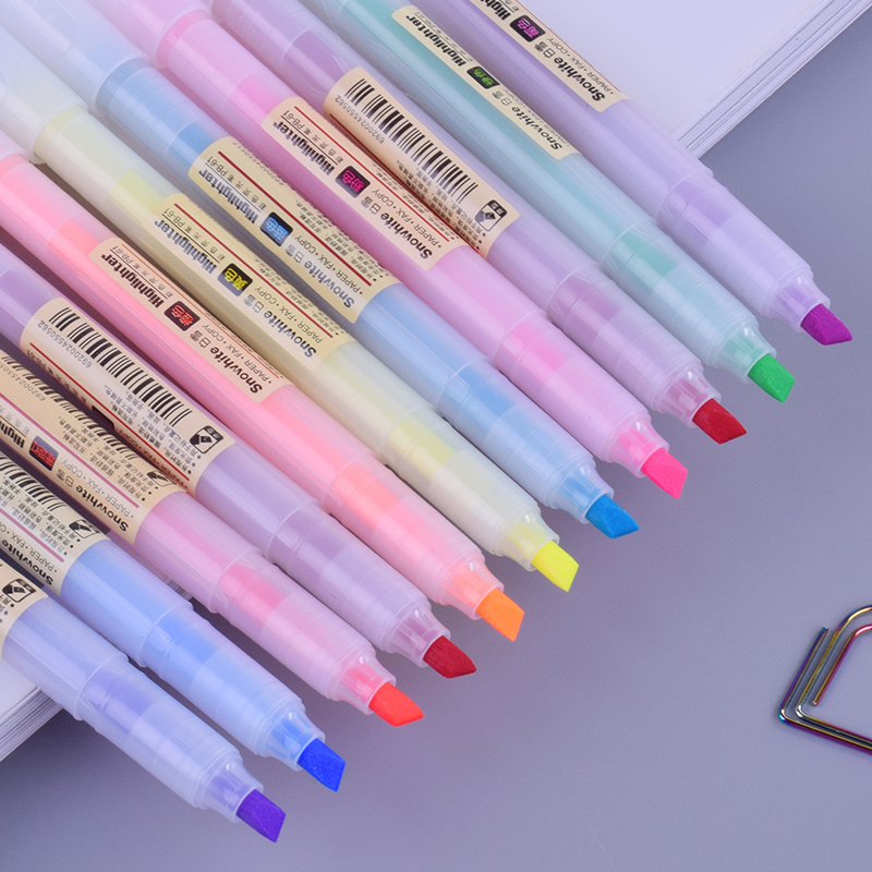 Baixue Color Highlighter Pen Student Mini Marker Pens Kawaii Stationery Material Escolar Papelaria School Supplies PB61