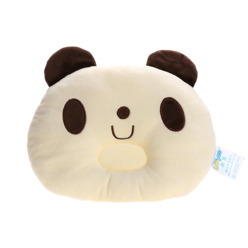 Prevent Flat Head Pillow Kids Baby Infant Soft Home Car Sleeping Imported PP Cotton Positioner Panda Soft pillowcase