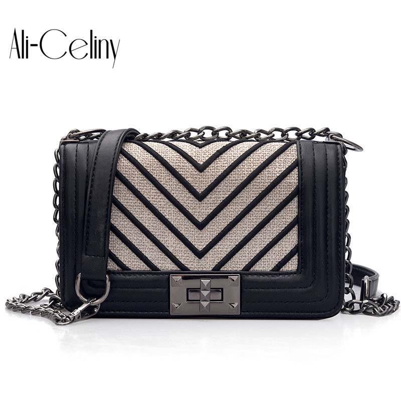 9473a6b667 New Style famous brand Minimalist Crossbody Bag women Shoulderbag messenger  diamond Chain Puzzle Ring bags for women-in Top-Handle Bags from Luggage    Bags ...