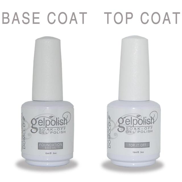 2PCS(1 Base Coat+1 Top Coat)HIGH QUALITY NAIL POLISH GEL LACQUER ...