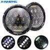 HJYUENG 75W 7 LED For Jeep Wrangler JK Yamaha Road Star Headlight H L DRL 7