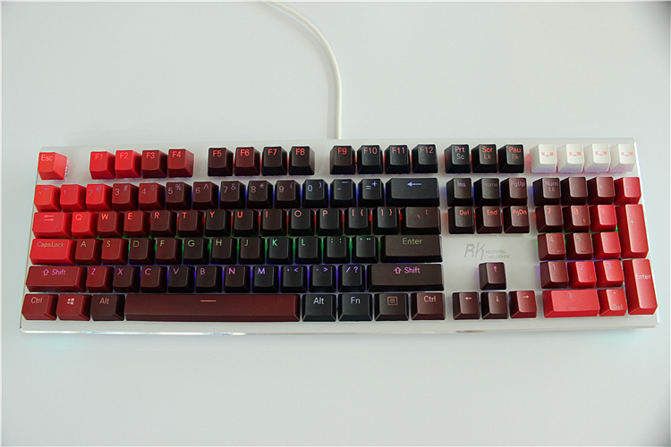 MP 104 Keys Thickening PBT Double Shot Backlight RED Gradient Keycap OEM Profile For Wired USB Mechanical keyboard
