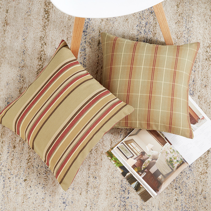 2019 Simple Modern Pillow Cover Home Decorative Striped Plaid Square Cushion Cover Geometric Throw Pillowcase For Sofa Bedroom in Cushion Cover from Home Garden