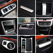 silver items for sharan 2012-2018 glass lifting switch panel Air outlet decoration frame air conditioning control panel Interior цена и фото