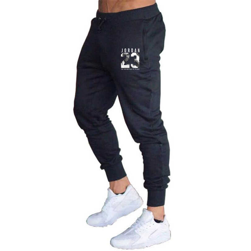 eab58761b41b1a New men trousers Gyms Fitness Workout Jordan 23 men Pants Cotton 2018 men  Sweatpants High quality