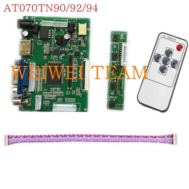 LCD TTL LVDS Controller Board HDMI VGA 2AV 50PIN For AT070TN90 92 94 Support Automatically VS TY2662 V1 Driver