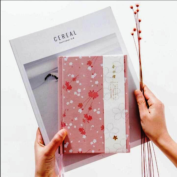 """Miss Sakura"" Girls Flowers Journal Journal Planificator Lunar Notebook Hard Cover Paper Gift"