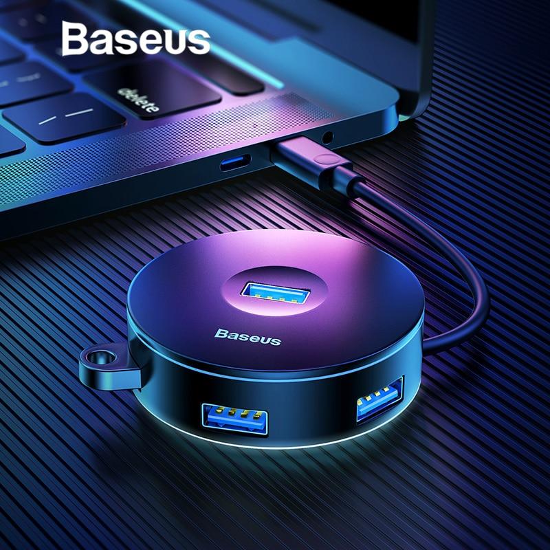 Baseus Multi USB 3,0/Tipo C HUB para USB3.0 + 3 USB2.0 para Macbook Pro HUB adaptador para Huawei p20 disco duro de la computadora de