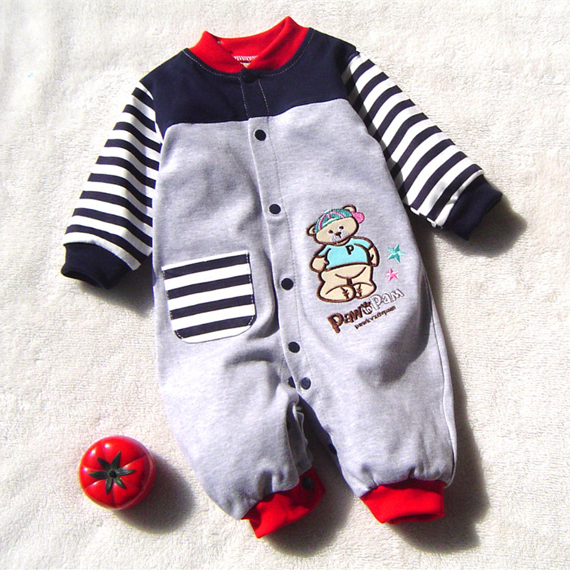 New Arrival Newborn Baby Boy Clothes Long Sleeve Baby Boys Girl Romper Cotton Infant Baby Rompers Jumpsuits Baby Clothing Set 2017 baby girl summer romper newborn baby romper suits infant boy cotton toddler striped clothes baby boy short sleeve jumpsuits
