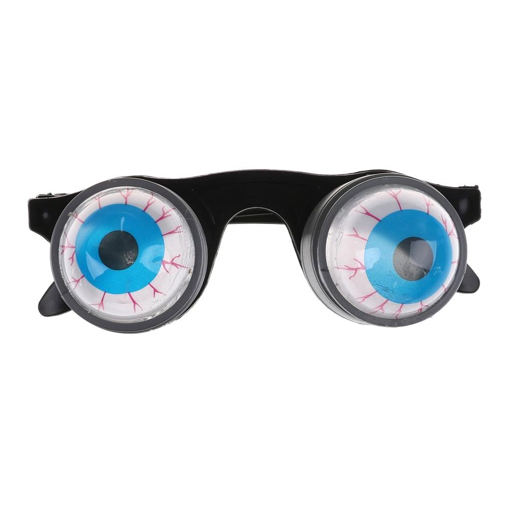 Halloween Costume Funny Horror Plastic Eye Ball Glasses Gift Drooping Spring Making Jokes Gag Game Toy For Friends