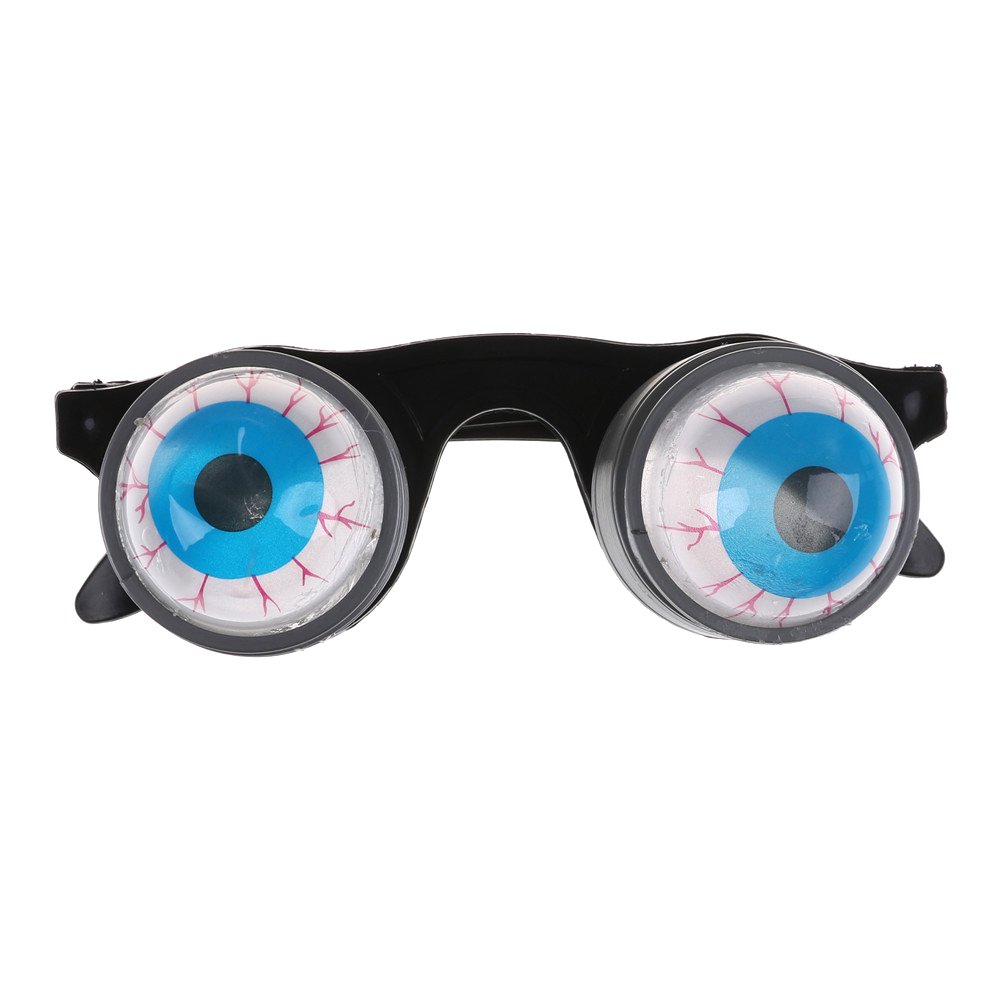 Halloween Costume Funny Horror Plastic Eye Ball Glasses Gift Drooping Spring Making Jokes Gag Game Toy for Friends image