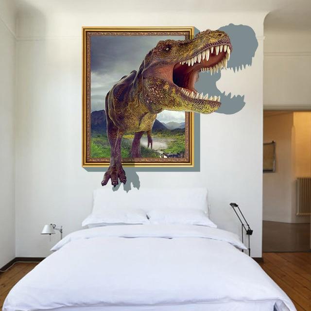 dinosaur 3d wallpaper wall sticker for kids rooms bedroom living