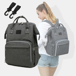 Baby Diaper Bags Maternity Backpack For Mom Nappy Changing Bebe Organizer Waterproof Care Bags Stroller Hook