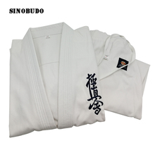 High Quality Kyokushinkai dogi Dobok 100% Cotton Canvas Kyokushin Karate Uniform Kimono Gi Cloth For Kids Adult SINOBUDO
