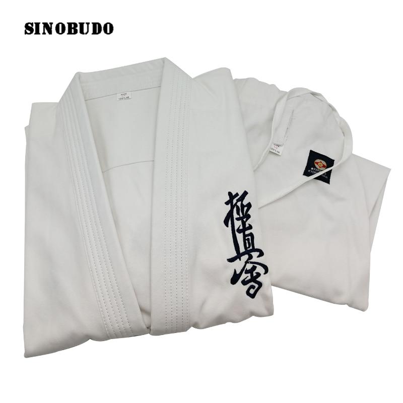 High Quality Kyokushinkai Dogi Dobok 12oz 100% Cotton Canvas Karate Uniform Kimono Gi Cloth For Kids Adult,Free White Belt