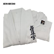SINOBUDO High Quality Kyokushinkai dogi Dobok 100% Cotton Canvas Karate Uniform Training Cloth For Kids to Adult