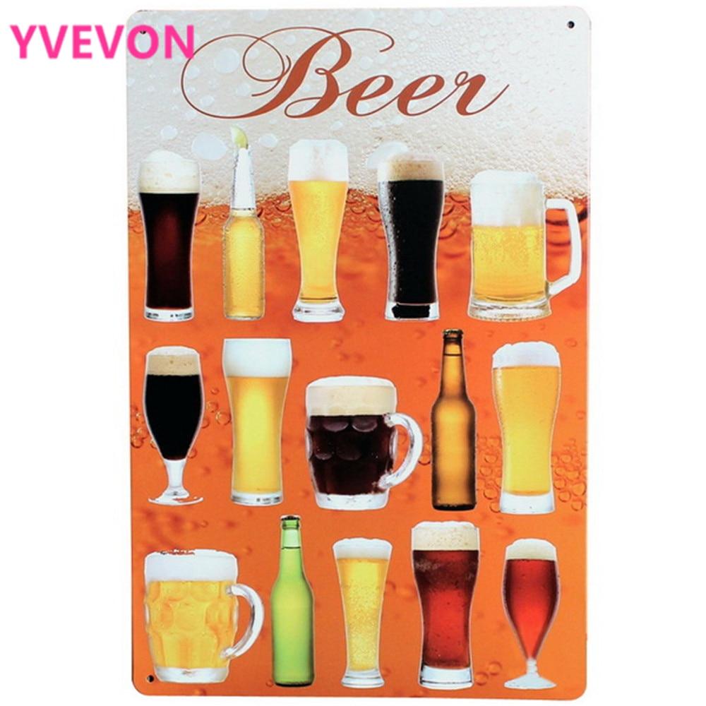 Urlaub Bier Metall Zeichen Retro Trinken Poster Chill Alkohol ...