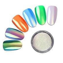 Meicailin 1 Box 0.2g Neon Aurora Nail Art Glitter Powders Mermaid Unicorn Chrome Pigment Dust