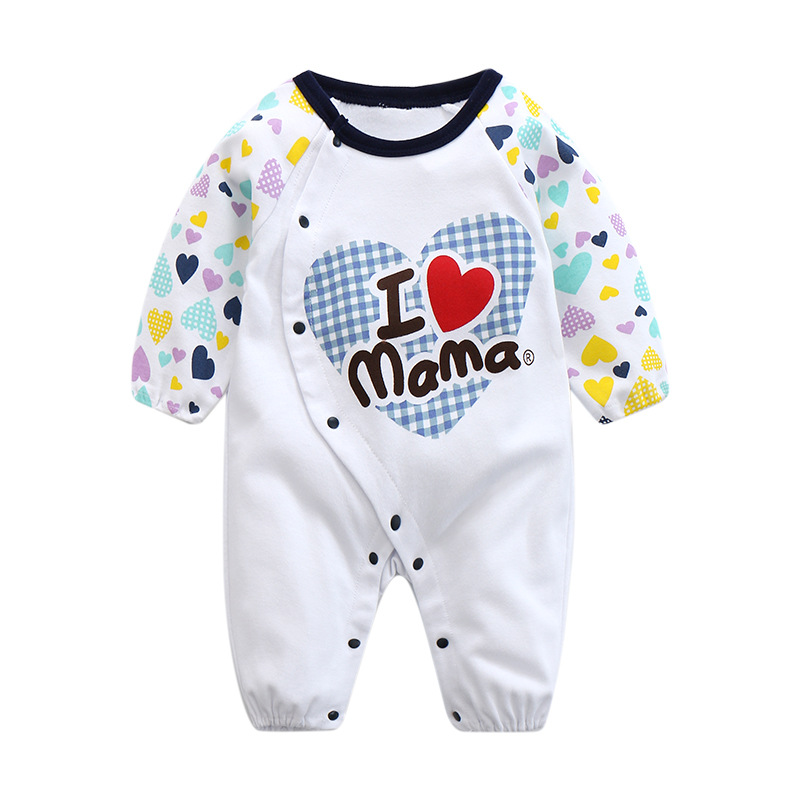 CalaBob Baby Girl Rompers 2017 New Baby Rompers Long Sleeve Cotton Newborn Baby Boy Clothes I Love Mama PaPa Baby Jumpsuit newborn baby rompers baby clothing 100% cotton infant jumpsuit ropa bebe long sleeve girl boys rompers costumes baby romper