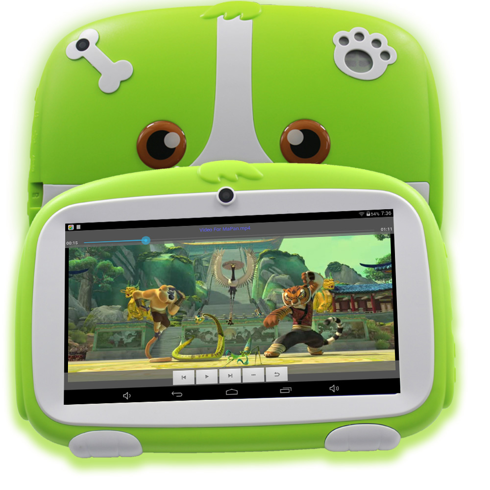 7 Inch Android 4.4 Tablet Pc WiFi Kids Tablets 1024*600 HD Infantil Children's Learning Cheap 7 Inch Baby Tablets
