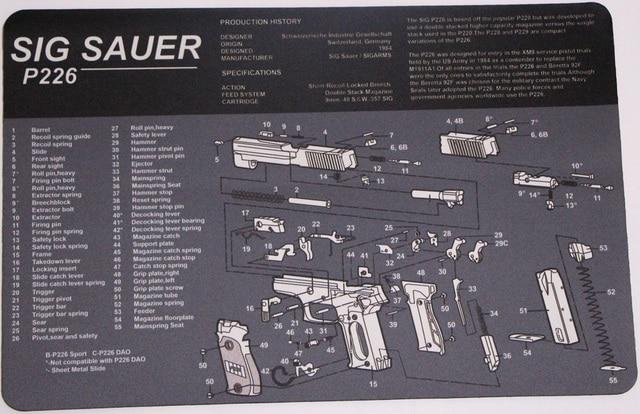 sig sauer p226 cleaning rubber mat 17\