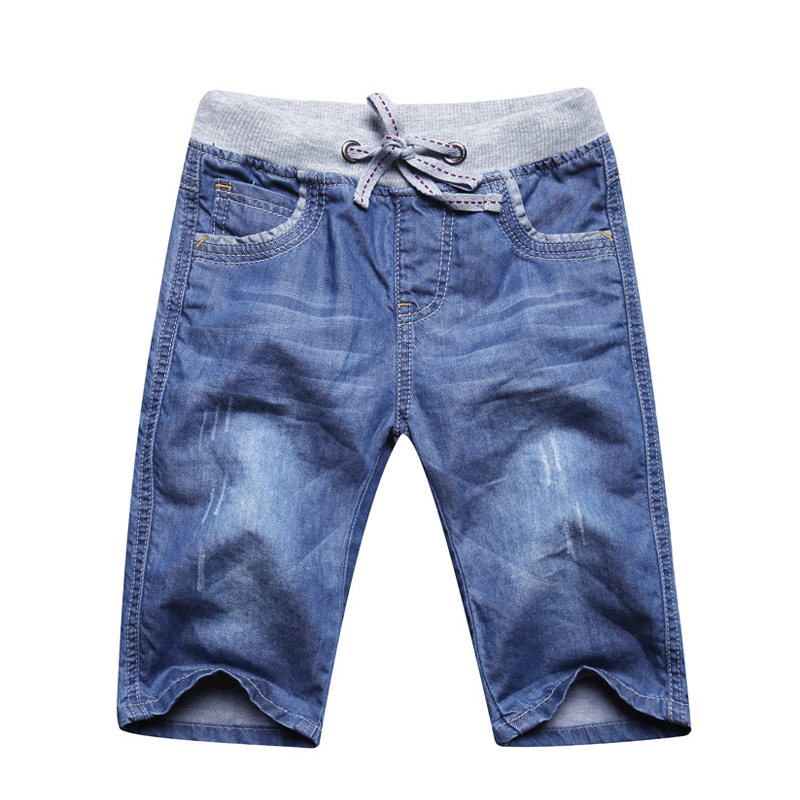 New Design Boys Jeans   Short   Pants Casual summer Kids Trousers Cotton Teenager denim   Shorts   solid color Clothing BC060
