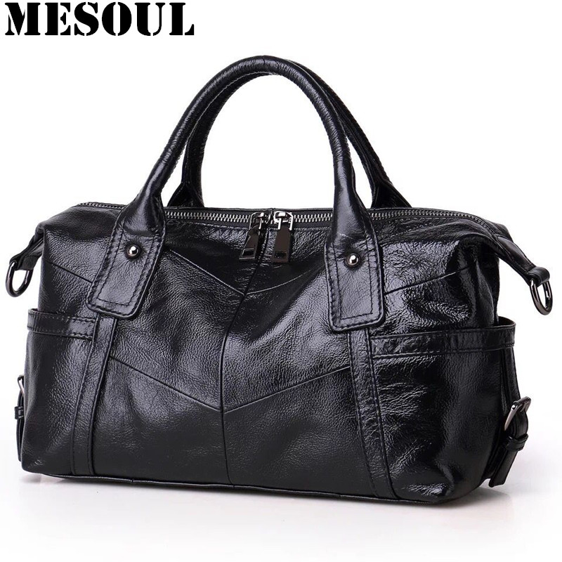 Brand handbags Female Casual Tote Bag High Quality Gray Genuine Leather Shoulder Bags 2017 Women Designer