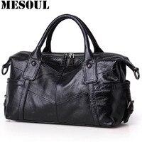 Brand Handbags Female Casual Tote Bag High Quality Gray Genuine Leather Shoulder Bags 2017 Women Designer