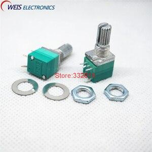 100 шт. RV097NS 10K один потенциометр соединения B10K ручка переключателя для звукового усилителя мощности ручка 15 мм RK0971110F15C0B103