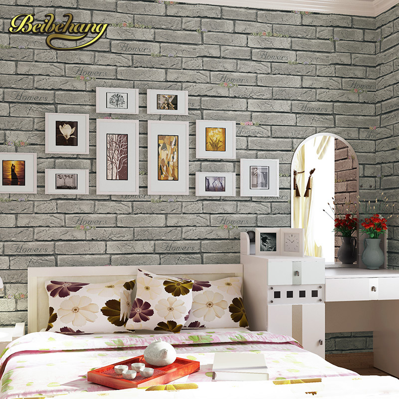 beibehang wall paper Pune vintage yellow brick paved Korean vintage pastoral wallpaper backdrop living room bedroom hallway beibehang wall paper pune girl room cartoon children s room bedroom shop for environmental non woven wallpaper ocean mermaid