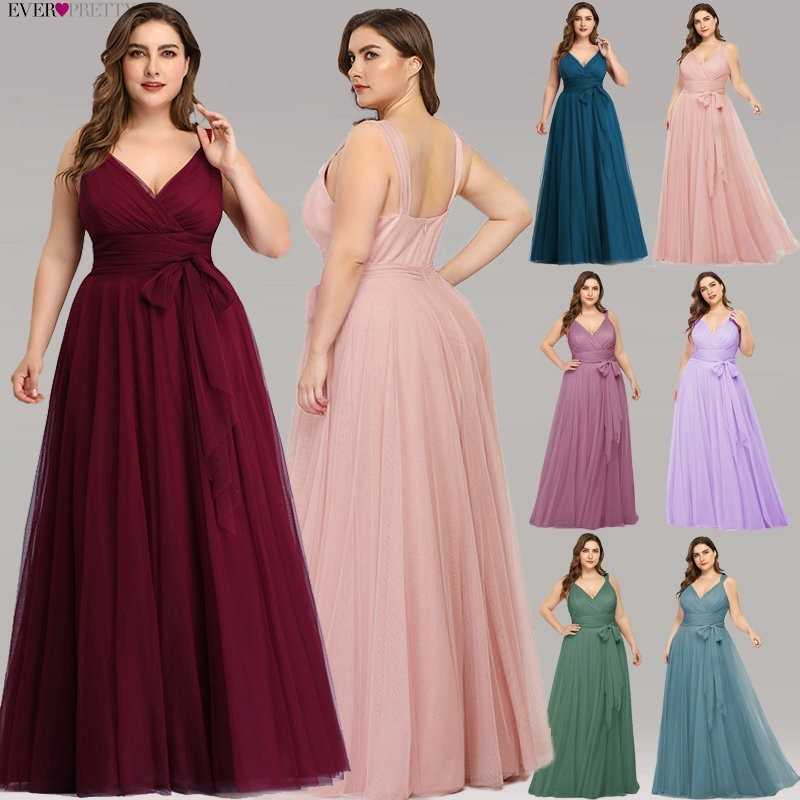 Bridesmaid-Dresses Blush Long-Dress Ever Pretty Lavande Wedding-Party Pink Elegant Plus-Size
