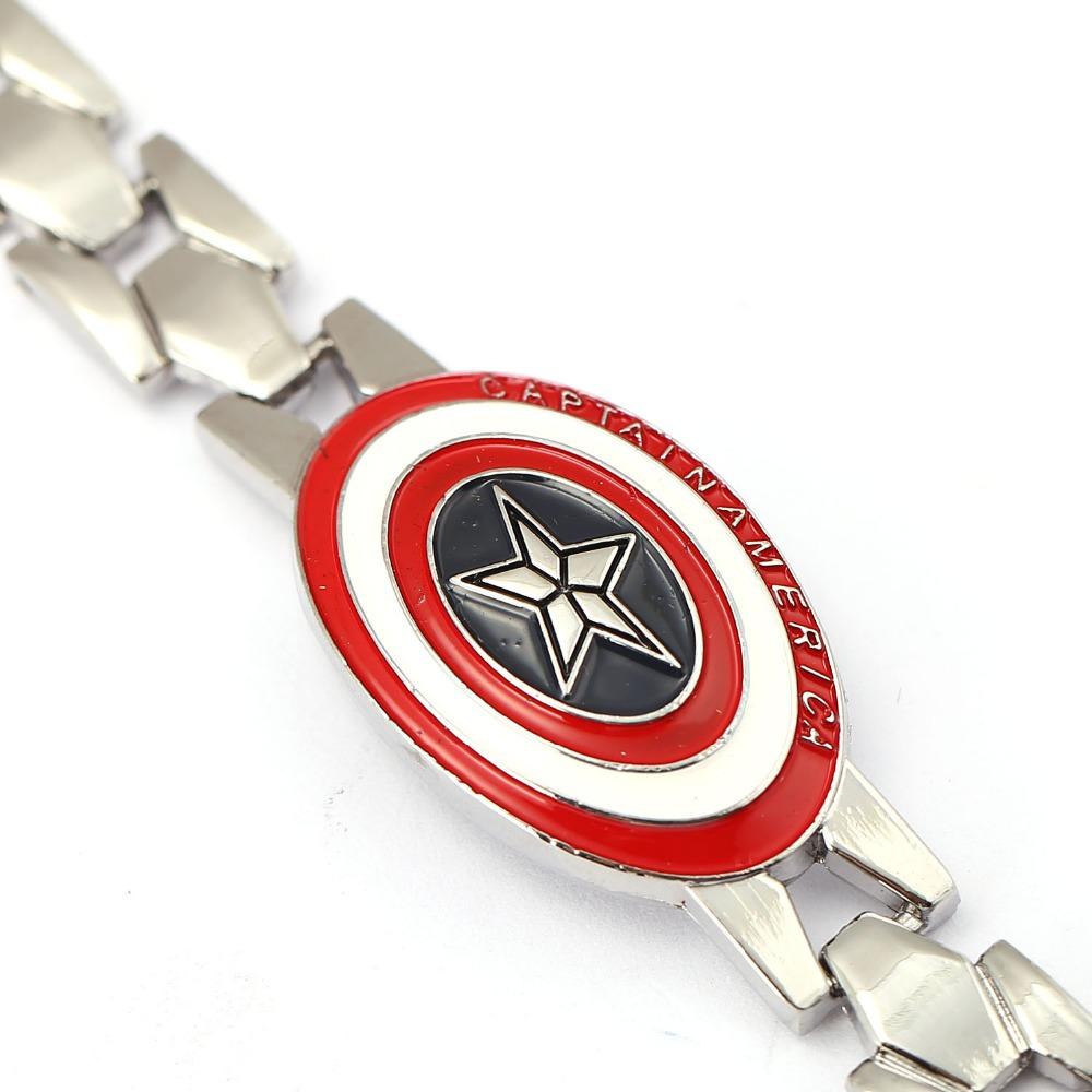 Logo honda rouge - H Et F Captain America Alliage Bracelet Anime Bijoux S Rie Rouge Bouclier Logo Charme Bracelet Hommes