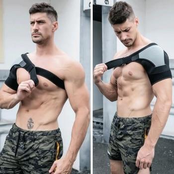 Soporte de hombro ajustable de un tamaño, soporte de entrenamiento deportivo, abrazadera de ayuda para el dolor articular, lesión de hombro, vendaje, prevención de esguince de lesiones