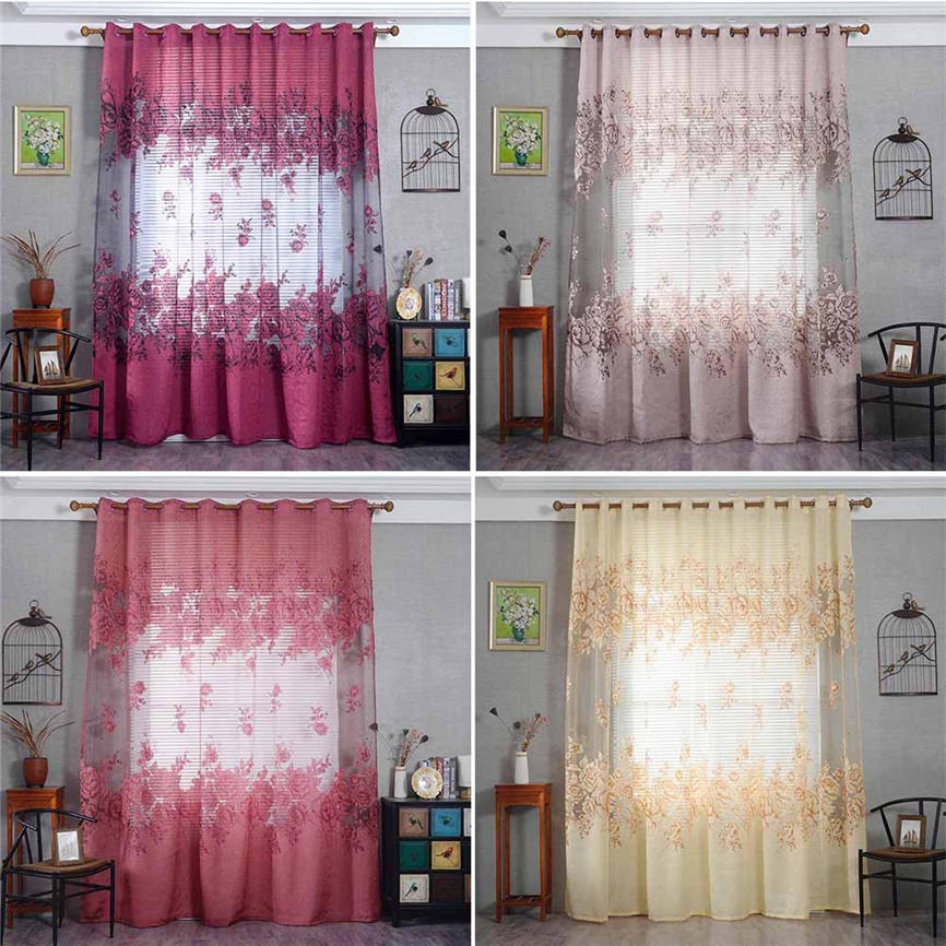 2018 New Quality Lattice Sheer Curtain Tulle Window Treatment Voile Drape Valance 1 Panel Fabric 250x100cm Wholesale &918 ...