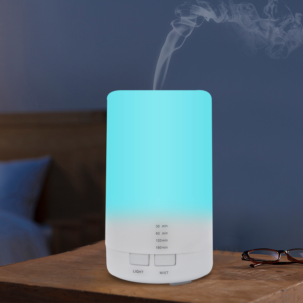 Mini Air Ultrasonic Humidifier USB Charging 5Color Led Night Light Aromatherapy Essential Oil Aroma Diffuser For Home Car Office|Humidifiers| |  - title=