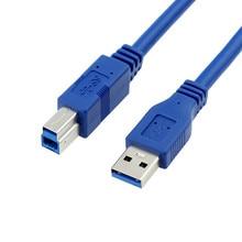 Стандарта USB 3.0 мужчина к B кабель голубого цвета для внешнего жесткого диска