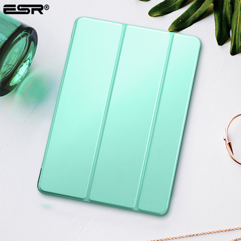 Funda para iPad 9.7 2017 Cubierta, ESR Yippee Color PU Leather + Ultra Slim Light Weight PC Smart Back Cover Case para nuevo iPad 2018
