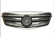 цена на For Mercedes-Benz E-class W212 2009 2010 2011 2012 2013 with Emblem gloss black/flat black/silver/chrome Front Racing Grille