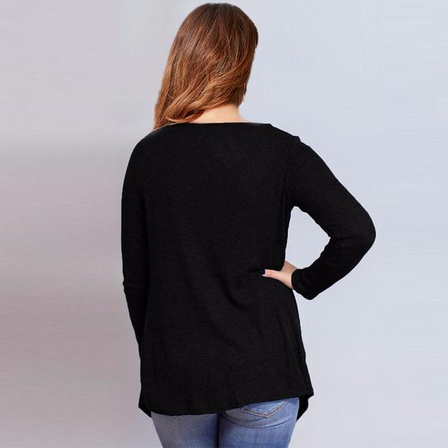 ZANZEA Women Shirts 2017 Autumn Long Sleeve O Neck Blouses Fashion Ladies Solid Asymmetrical Plus Size Tops Blusas Femininas