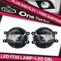 AKD Car Styling for LEXUS GX470 GX 470 LED Fog Lamp Light guide FOG Light DRL Daytime Running Light Automobile Accessories