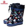 Flamingo marca 2017 nueva colección de primavera-otoño de moda botas de goma con lana de calidad antideslizantes niños zapatos para niños 71-hl-0015