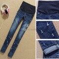 Calças de ganga Para Mulheres Grávidas Calças Barriga Maternidade Elástica Calças Jeans Primavera Outono Lápis Roupas Calças Skinny Moda