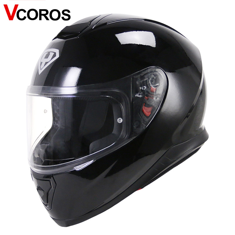 VCOROS fashion full face motorcycle helmet individuality YOHE 976 motorbike man helmet sun visor moto helmets size M L XL XXL