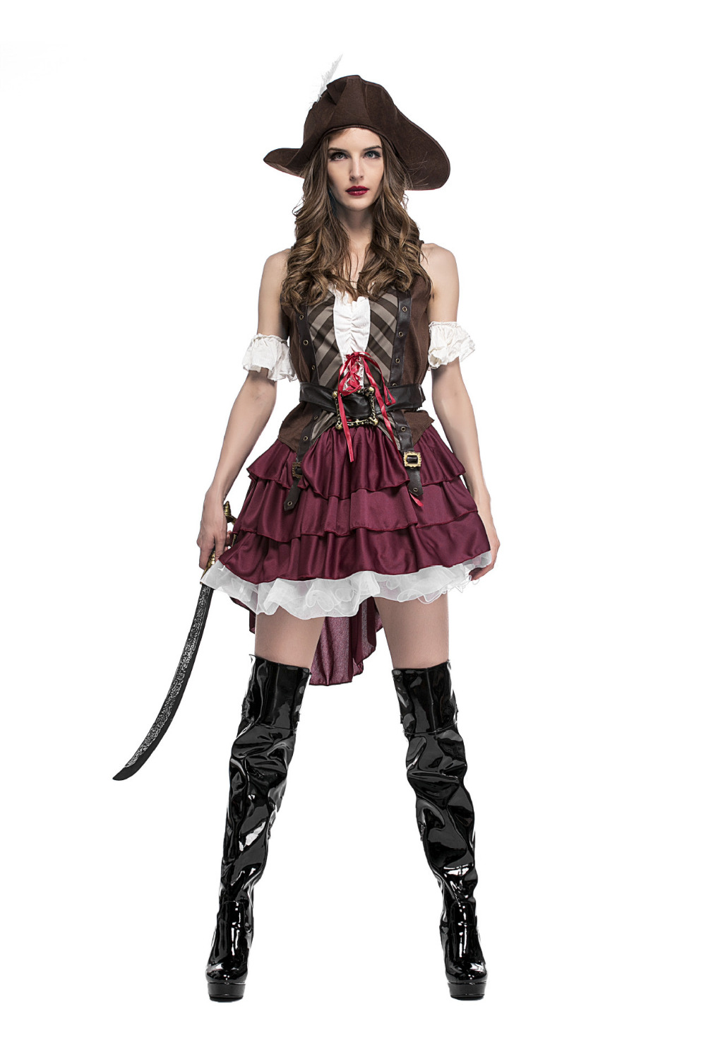 Novelty & Special Use Deluxe Women Sexy Caribbean Pirate Costume Adult Halloween Carnival Pirate Fancy Dress