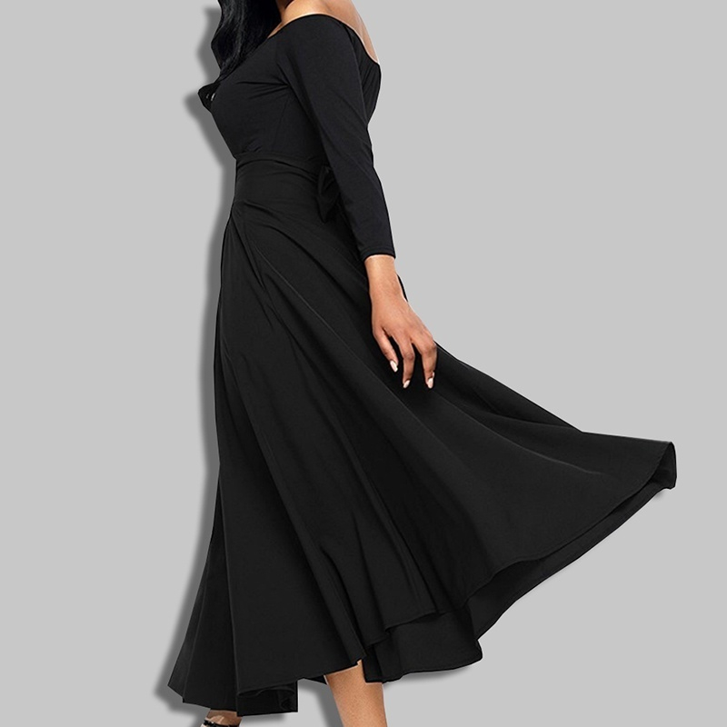 ZOGAA Women High Waist A-line Skirt Solid Long Skirt Pleated A Line Front Slit Belted Plus Size S-4XL Empire Ankle-Length Skirt